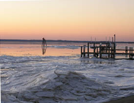 Ice on the Rappahannock in February 2009